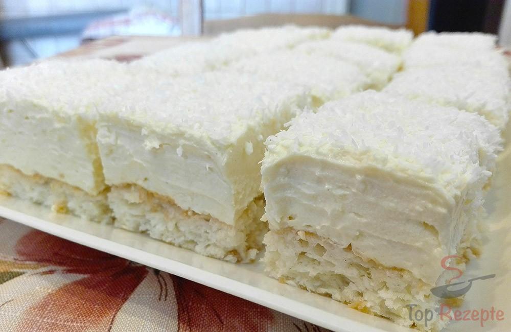Wunderbarer Kuchen Mit Eigelbcreme Und Kokos Top Rezepte De
