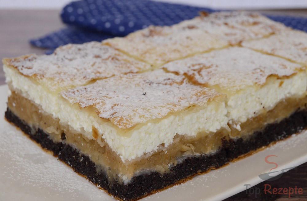 Ein Wunderbarer Kuchen Mit Apfeln Mohn Und Quark Top Rezepte De