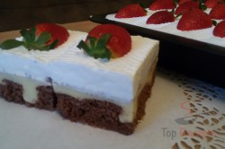 Zubereitung des Rezepts Wunderbare Pudding-Sahne-Schnitten mit Erdbeeren, schritt 16