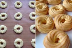 Zubereitung des Rezepts Spritzkuchen mit Eigelbcreme, schritt 1