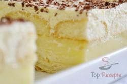 Zubereitung des Rezepts Joghurt-Cremeschnitten mit Eierplätzchen, schritt 8