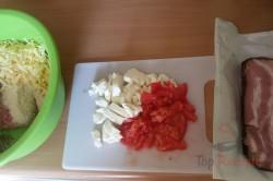 Zubereitung des Rezepts Hackbraten mit Käse im Speckmantel, schritt 4