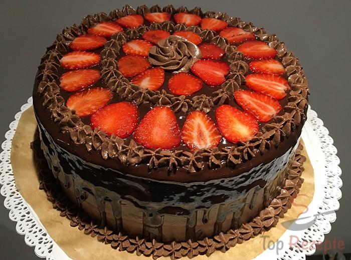 Schokoladen Erdbeer Torte Top Rezepte De