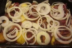 Zubereitung des Rezepts Das Mittagessen meines Mannes – ein Ofengericht, schritt 3
