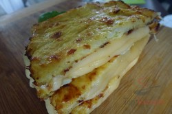 Zubereitung des Rezepts Im Ofen gebackener Käse – mal anders, ohne Panade, schritt 4