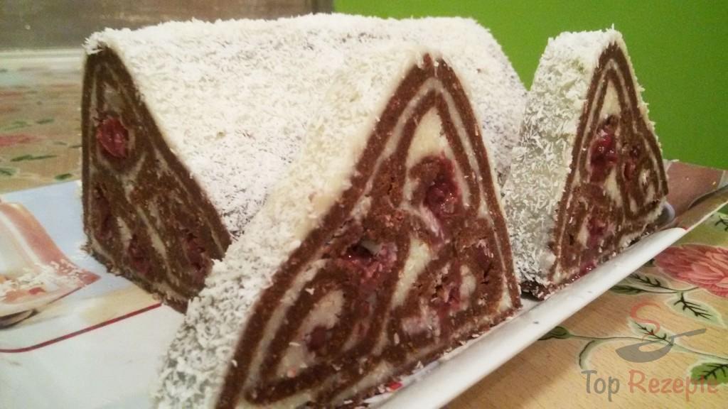 Kokos Kirsch Pyramidenkuchen Ohne Backen Top Rezepte De