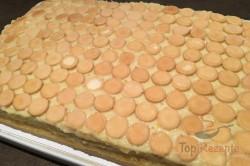 Zubereitung des Rezepts Pfirsich-Cremedessert mit Eierplätzchen, schritt 9