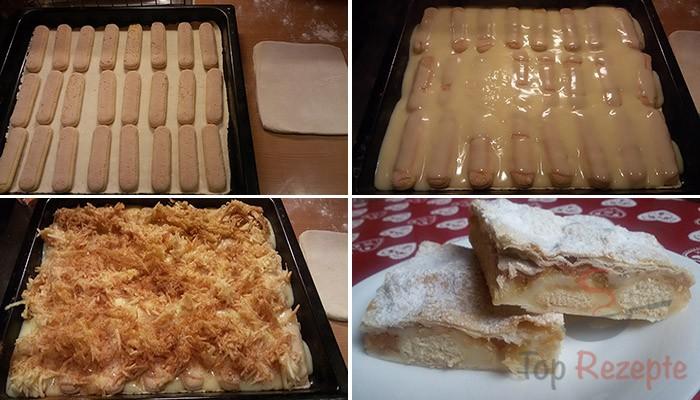 Vanillepudding Apfel Kuchen