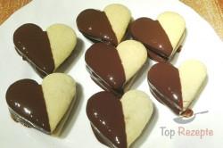 Zubereitung des Rezepts Köstliche Herzen mit Schokocreme und Schokoglasur, schritt 2