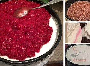 Himbeer-Cheesecake ohne Backen – FOTOANLEITUNG