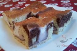 Zubereitung des Rezepts ZICK-ZACK-Puddingkuchen mit saurer Sahne, schritt 13