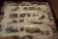 Zubereitung des Rezepts ZICK-ZACK-Puddingkuchen mit saurer Sahne, schritt 12