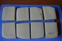 Zubereitung des Rezepts Leckerer panierter Käse aus dem Backofen – schmeckt wie frittiert!, schritt 1
