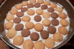 Zubereitung des Rezepts Pfirsich-Torte ohne Backen, schritt 8