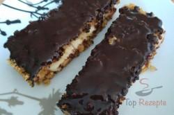 Zubereitung des Rezepts Bananen-Haferflocken-Kuchen mit Schokolade überzogen, schritt 1