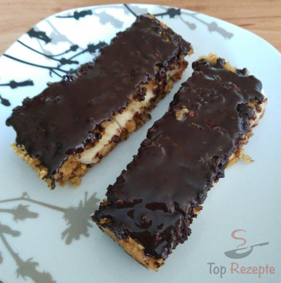 Bananen Haferflocken Kuchen Mit Schokolade Uberzogen Top Rezepte De