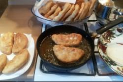 Zubereitung des Rezepts Mit Schinken und Käse gefüllte Langos – FOTOANLEITUNG, schritt 10