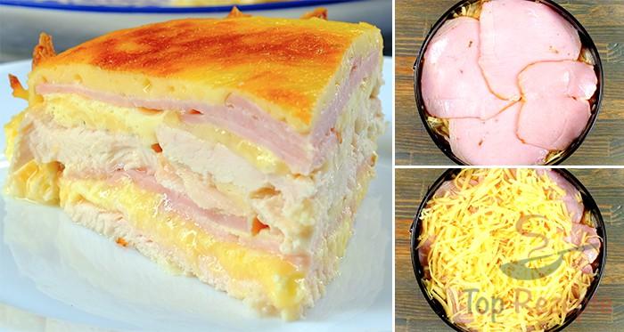 Herzhafte Hahnchen Torte Mit Schinken Und Kase Top Rezepte De
