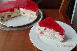 Zubereitung des Rezepts Quark-Pudding-Torte mit Erdbeeren und Tortenguss ohne Backen, schritt 3