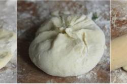 Zubereitung des Rezepts Leckere Joghurt-Puffer mit Käse gefüllt und in nur 30 Minuten zubereitet, schritt 2