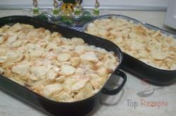 Zubereitung des Rezepts Semmelauflauf mit Äpfeln und Quark, schritt 4