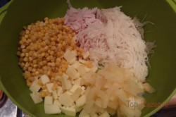 Zubereitung des Rezepts Sellerie-Ananas-Porree-Salat, schritt 3