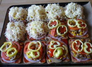 Rezept Toastbrot-Pizza