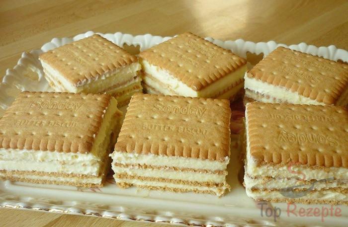 Kekskuchen Mit Vanillecreme Top Rezepte De