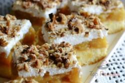 Zubereitung des Rezepts Apfelschnitten mit Schneehaube und Nüssen, schritt 8