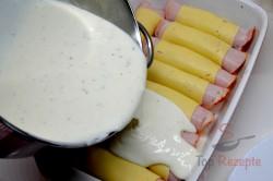 Zubereitung des Rezepts Hähnchenrouladen mit Schinken und Käse, schritt 8
