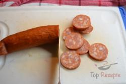 Zubereitung des Rezepts Kartoffeln mit Zwiebeln und Wurst überbacken, schritt 5