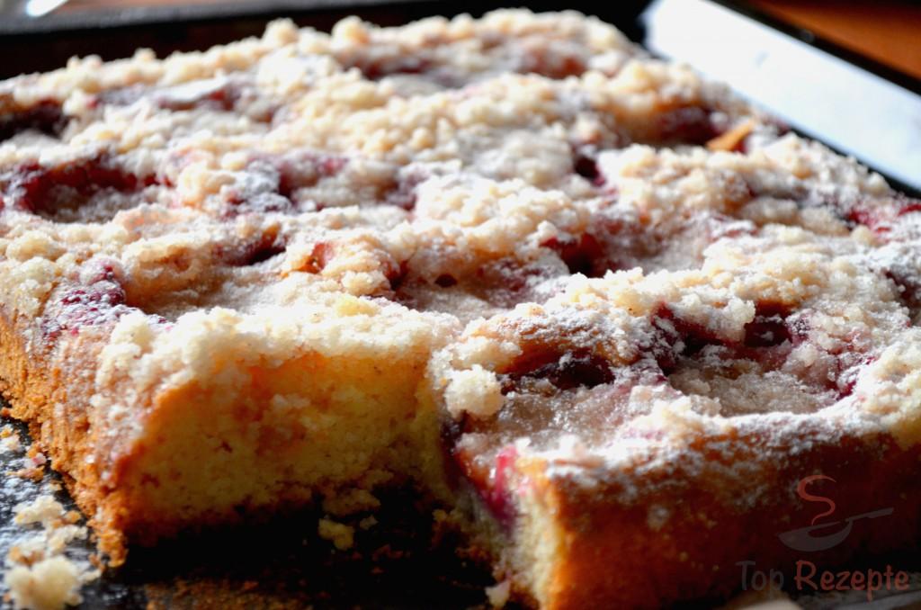 Schneller Pflaumenkuchen Mit Streuseln Top Rezepte De
