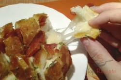 Zubereitung des Rezepts Schinken-Käse-Partybrot (Zupfbrot), schritt 2