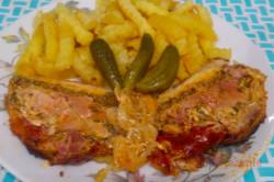 Zubereitung des Rezepts Schweinefleisch mit Räucherkäse und Rauchfleisch, schritt 6