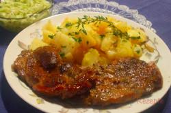 Zubereitung des Rezepts Schweinenacken mit Biersauce und Kartoffeln, schritt 5