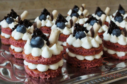 Zubereitung des Rezepts Red Velvet Mini Cakes, schritt 1