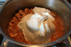 Zubereitung des Rezepts Spaghetti mit Hähnchenfleisch und Rahmsoße, schritt 5
