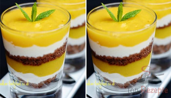 Fruchtdessert Im Glas Mango Bananen Joghurtdessert