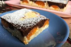 Zubereitung des Rezepts Schwarz-weißer Aprikosen-Quark-Kuchen, schritt 8
