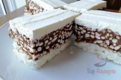 Zubereitung des Rezepts Köstlicher Kokoskuchen mit Schokolade und Puffreis, schritt 1
