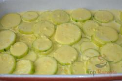 Zubereitung des Rezepts Zucchini in Sahnesoße überbacken, schritt 4