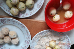 Zubereitung des Rezepts Selbstgemachte Schinken-Käse-Kartoffelkroketten, schritt 4