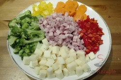 Zubereitung des Rezepts Leichter Nudelsalat mit Joghurtdressing, schritt 2