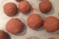 Zubereitung des Rezepts Zweifarbige FITNESS Kokos-Quarkkugeln ohne Zucker, Mehl und Eier, schritt 6
