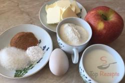 Zubereitung des Rezepts 7-Minuten-Apfel-Pancakes: die perfekten Pfannkuchen ohne Wartezeit, schritt 1