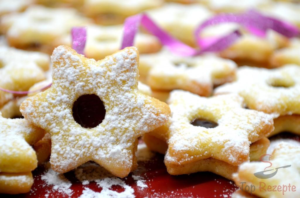 Zarte Butterplätzchen Weihnachtssterne Top Rezeptede