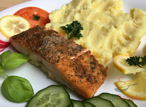 Rezept Lachs in Butter gebacken