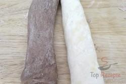 Zubereitung des Rezepts Luftige zweifarbige Butterteig-Stangen, schritt 5