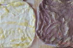Zubereitung des Rezepts Luftige zweifarbige Butterteig-Stangen, schritt 3