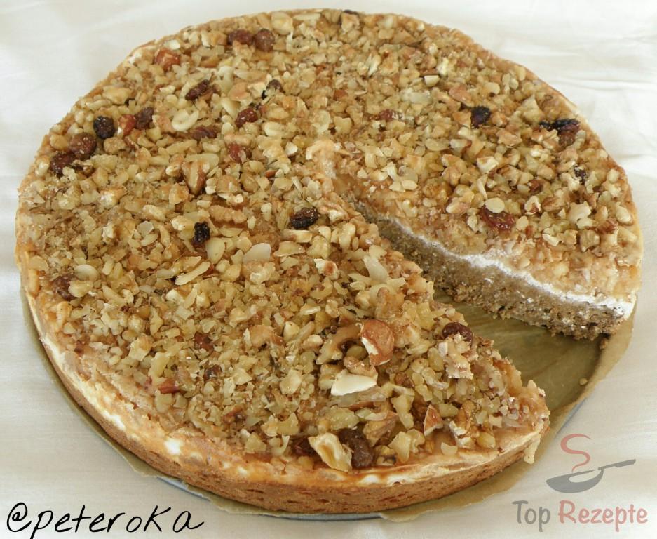 Gesunder Nuss Apfel Kuchen